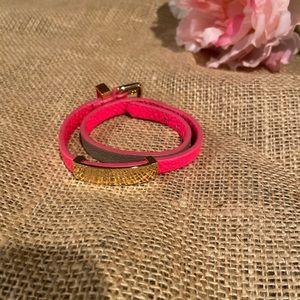 Marc Jacobs hot pink wrap bracelet